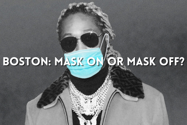 photo of future Hendrix wearing covid 19 medical face mask asking mask on or mask off